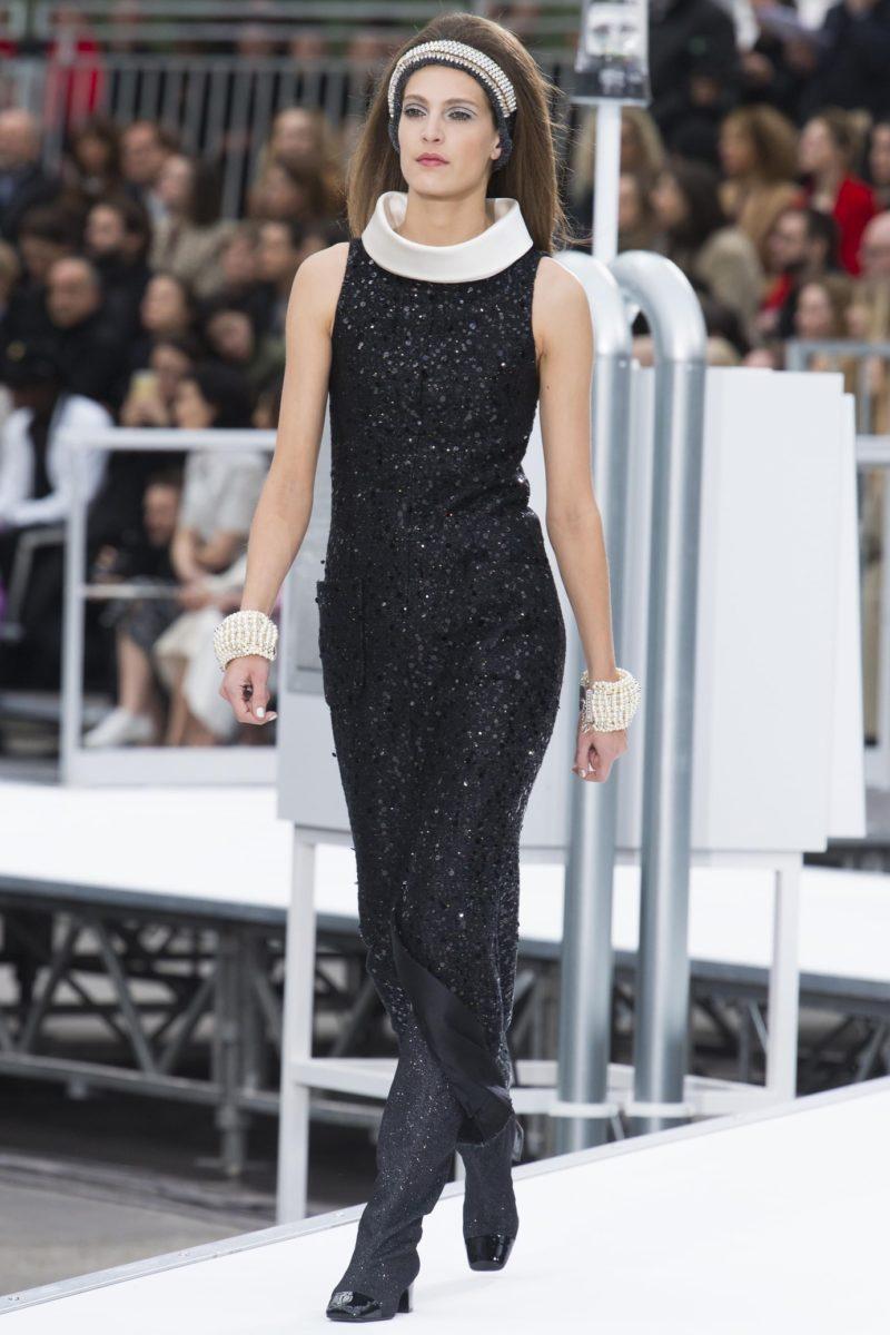 Платье шанель 2017-2018 черное