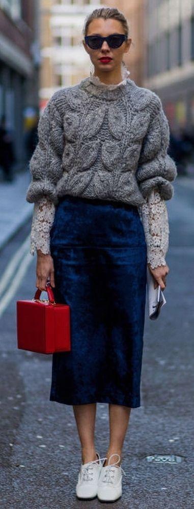 вязаный свитер женский фото