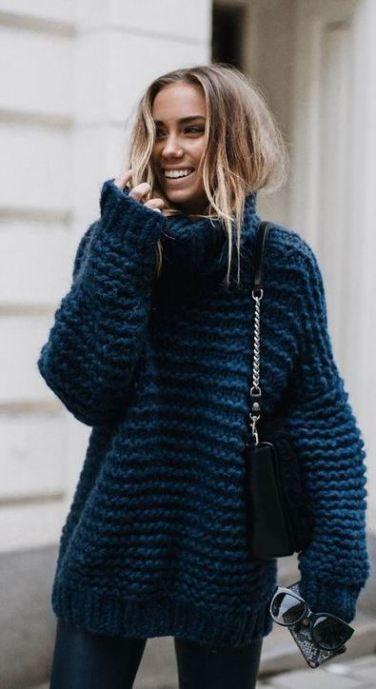 свитер женский крупной вязки