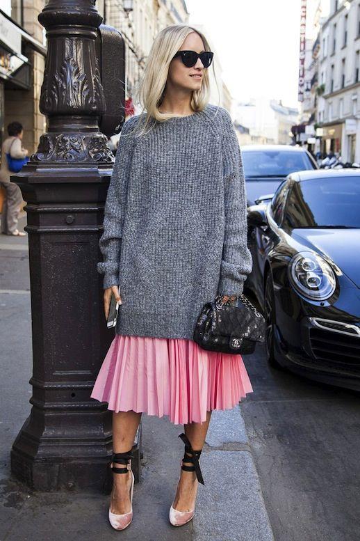 свитер с платьем
