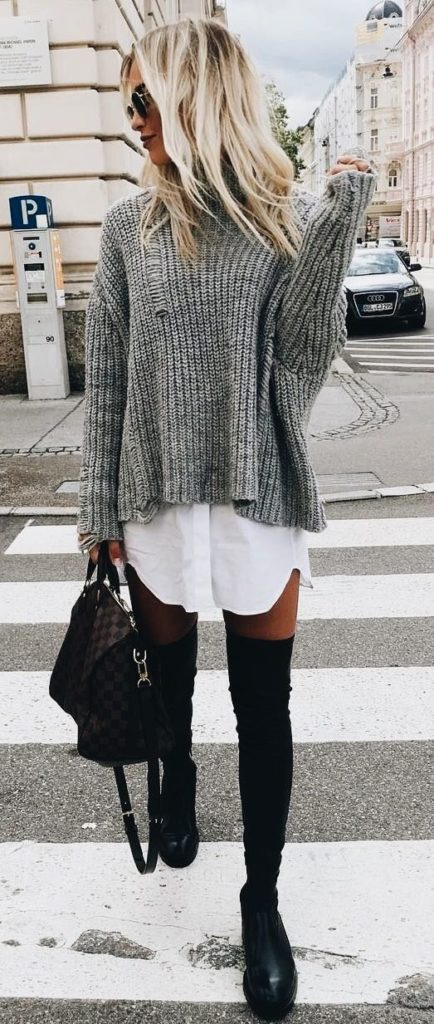 женский свитер связанный