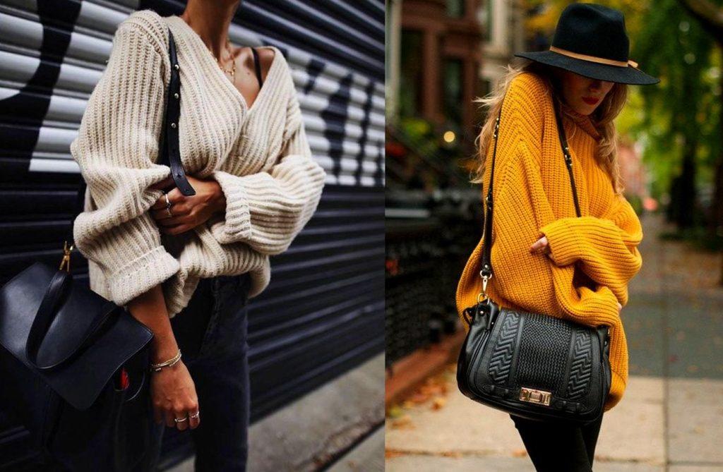 свитера в стиле оверсайз