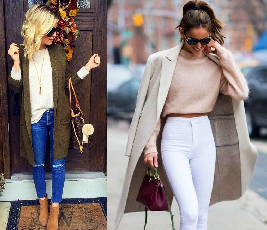 свитера с джинсами
