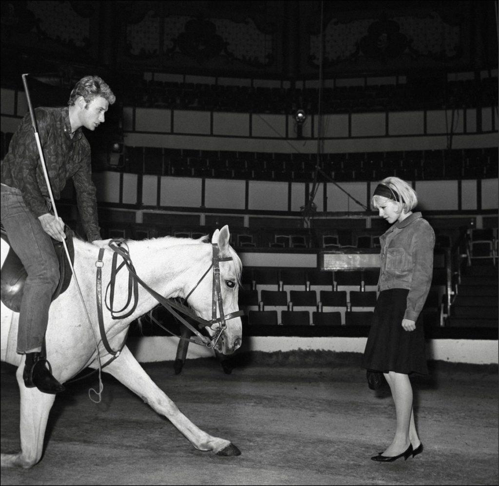 Сильви Вартан и Джонни Холидей во Франции, 28 февраля 1964 год