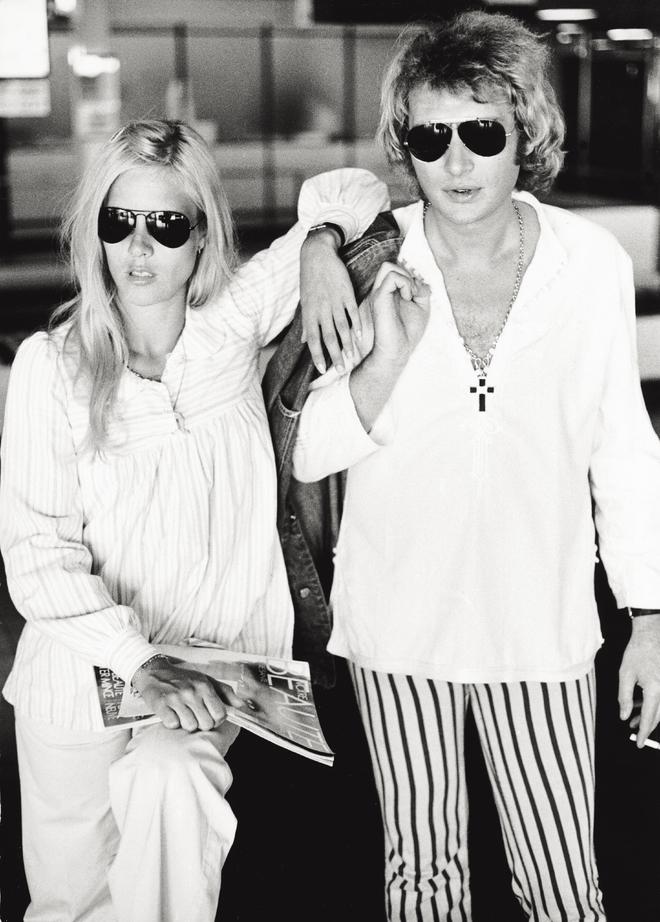 Сильви Вартан и Джонни Холлидей в Милане в 1973 году