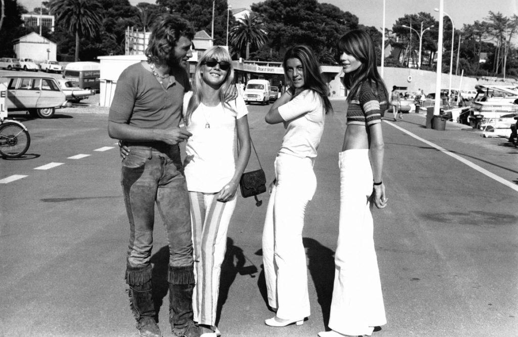 Джонни Холлидей, Сильви Вартан, Шейла и Франсуаза Арди в Сен-Рафаэль в августе 1969 года