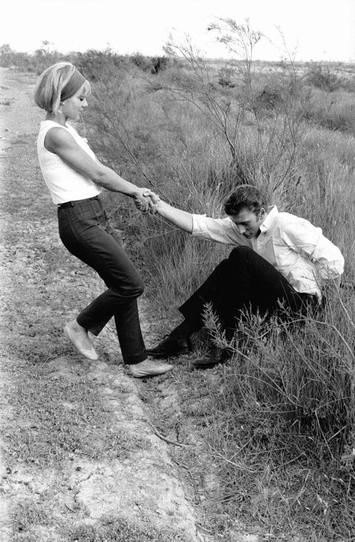 Сильви Вартан и Джонни Холлидей в Камарге в 1963 году