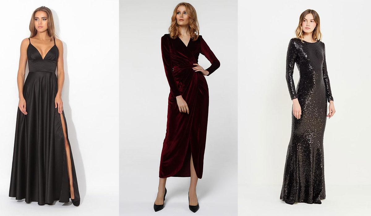 Длинные платья на Новый год