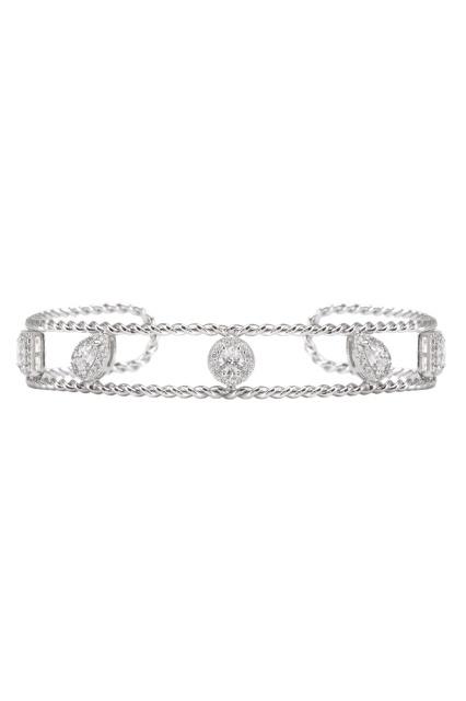 Серебристый браслет с кристаллами EXCLAIM