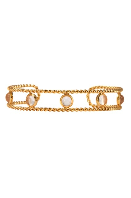 Золотистый браслет с кристаллами EXCLAIM