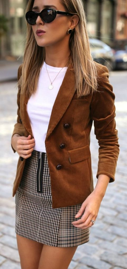 коричневый пиджак луки