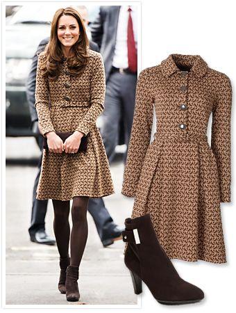 коричневое пальто луки