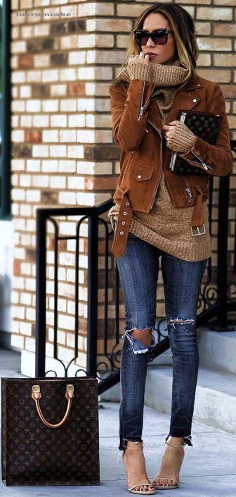коричневая куртка луки