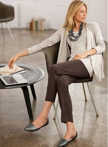 коричневые женские брюки