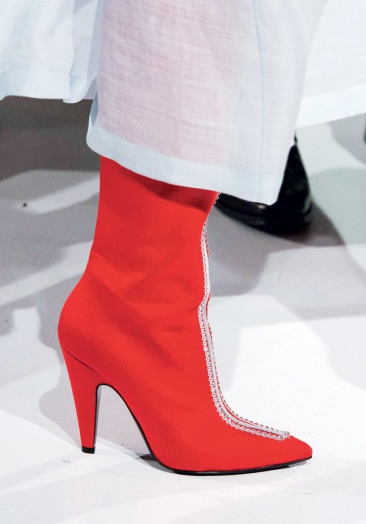 Красные ботильоны Calvin Klein