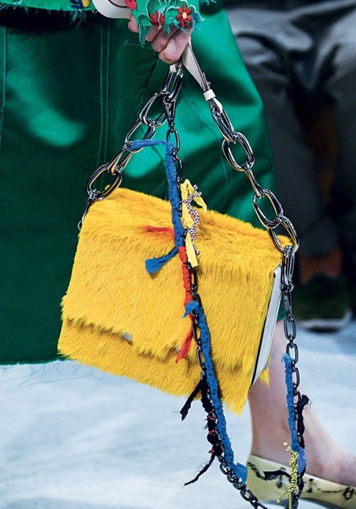 Желтая сумка Marni