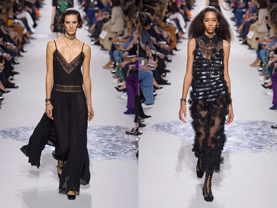 Длинные черные вечерние платья Dior