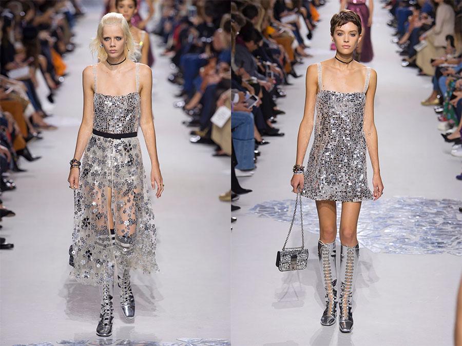 Блестящее платье Dior