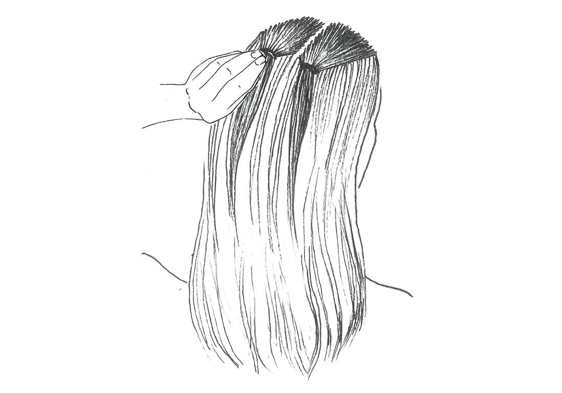 Прическа на волосы средней длины